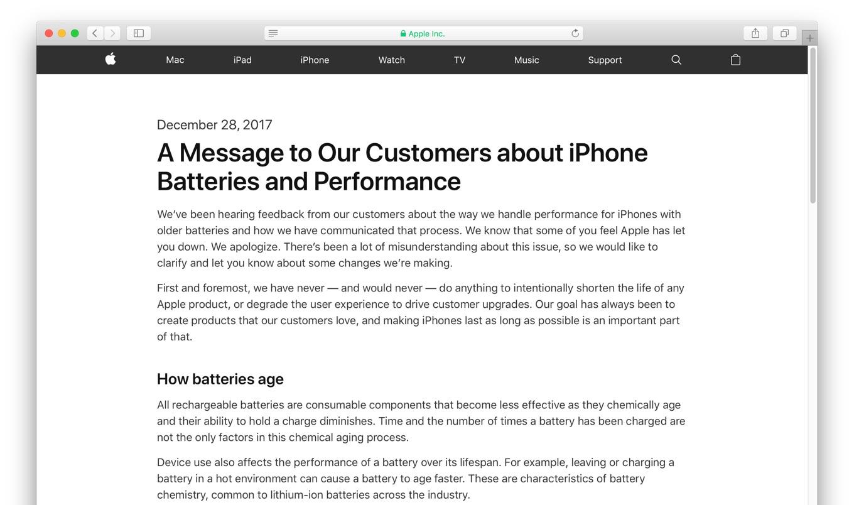 iPhoneのバッテリーとパフォーマンス問題