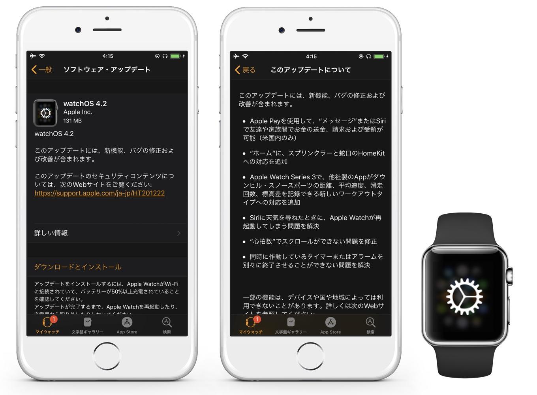 watchOS 4.2リリース