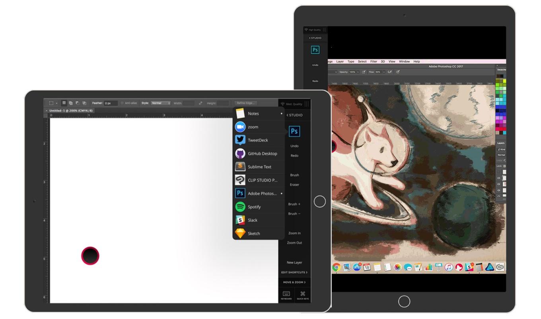 Astropad StudioがサポートしたMac Dockとポートレートモード