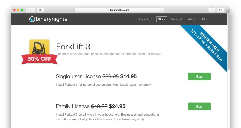 ForkLift 3の2017ウインターセール