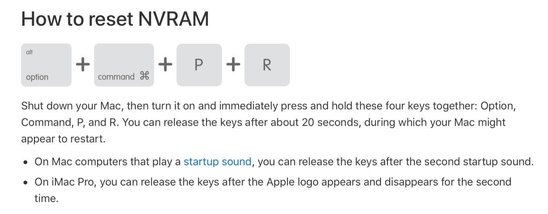 iMac ProのNVRAMをリセットする方法