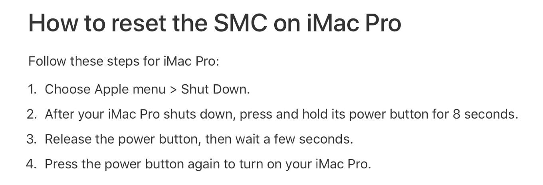 iMac ProのSMCをリセットする方法