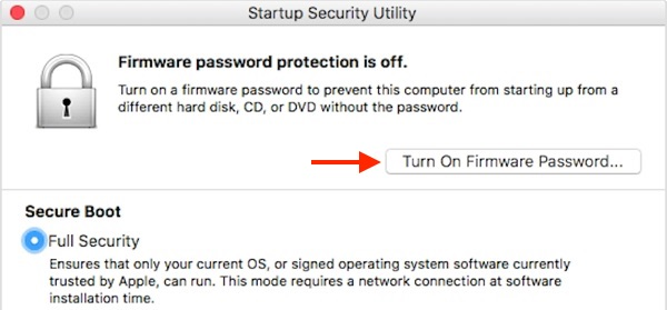 iMac Proでファームウェア・パスワードを設定する方法