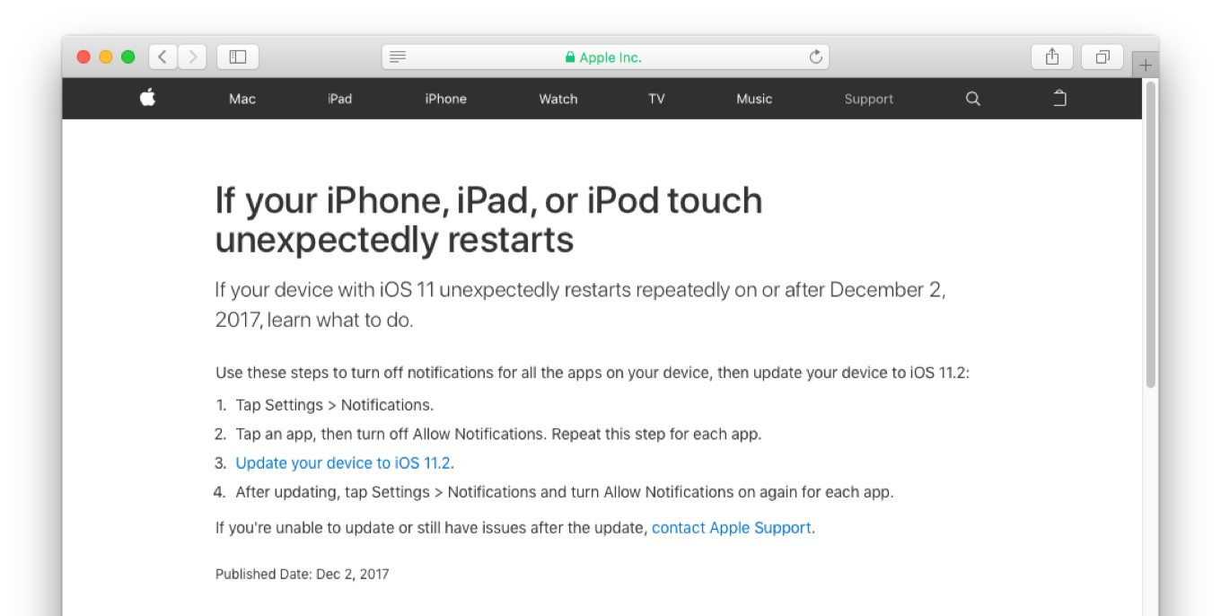 If your iPhone, iPad, or iPod touch unexpectedly restarts