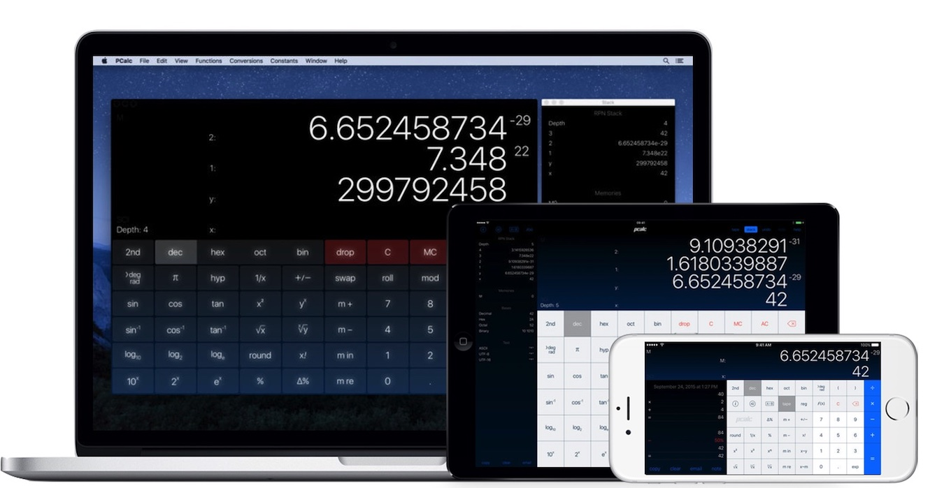 PCalc for Mac/iPhone/iPad