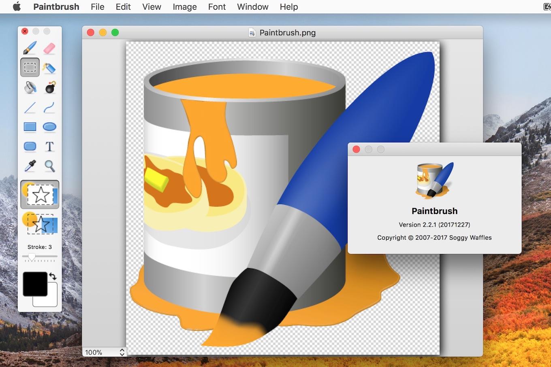 Paintbrush on macOS 10.13 High Sierra