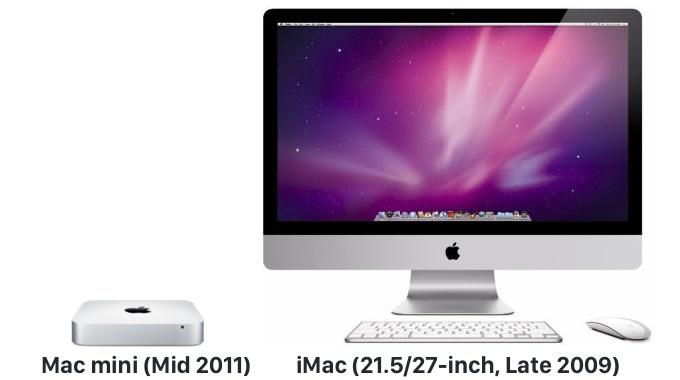 Mac mini (Mid 2011)およびiMac (21.5-inch, Late 2009)がオブソリートへ