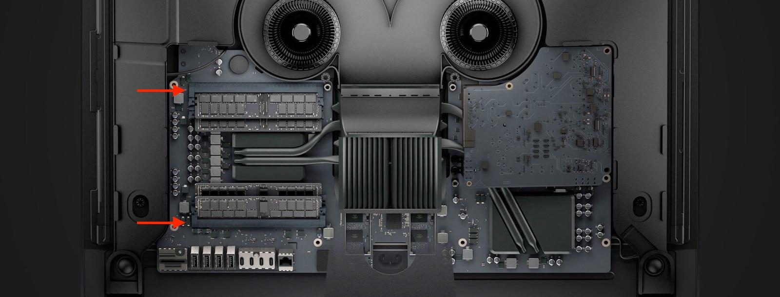 iMac Proのメモリモジュール位置