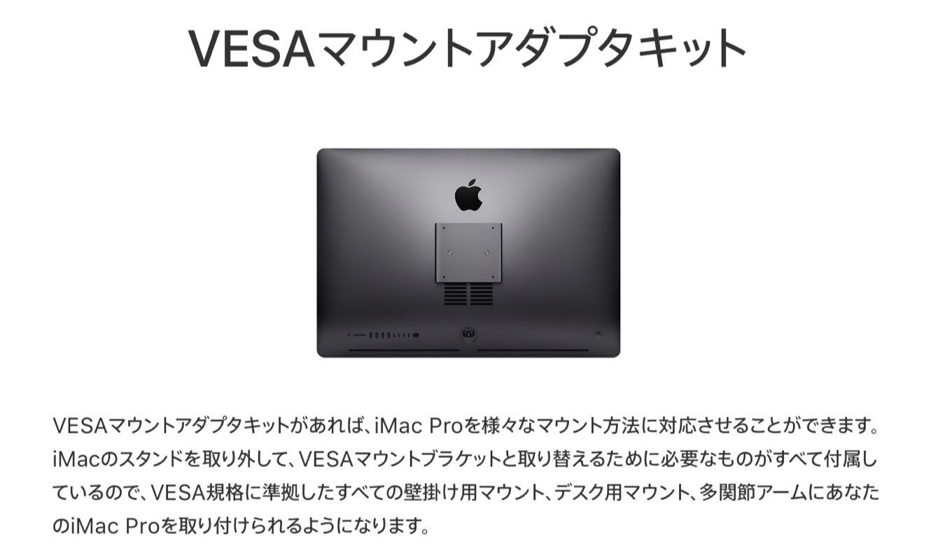 iMac ProのVESA Mount Adapter Kit