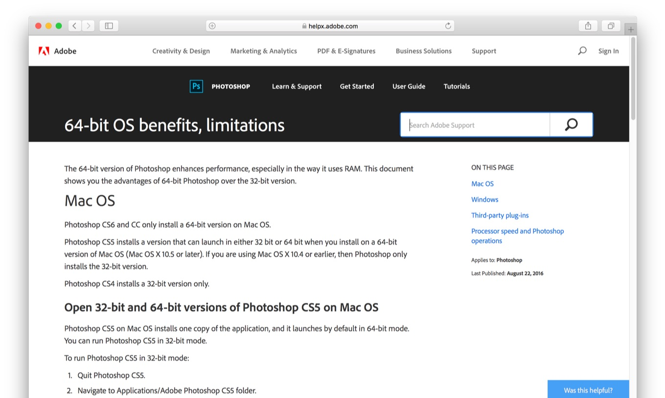 64-bit OS benefits, limitations