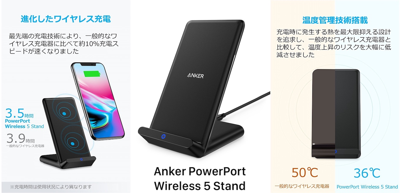 Anker PowerPort Wireless 5 Standの機能