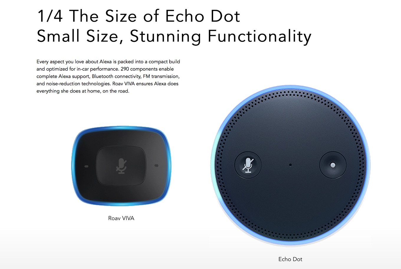 Amazon Echo DotとAnker Rova VIVAのサイズ比較