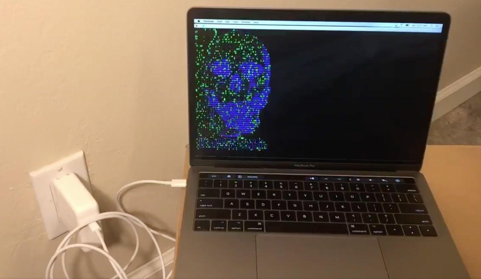 BadUSB-Cケーブルから攻撃を受けるMacBook