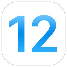 iOS 12のロゴ
