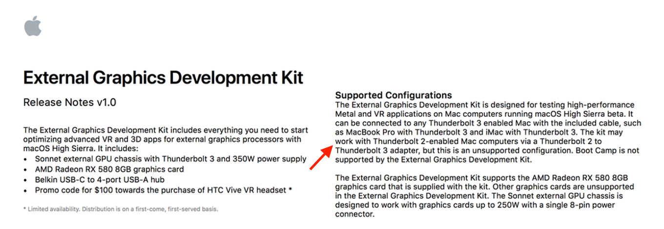 External Graphics Development Kit Release Notes