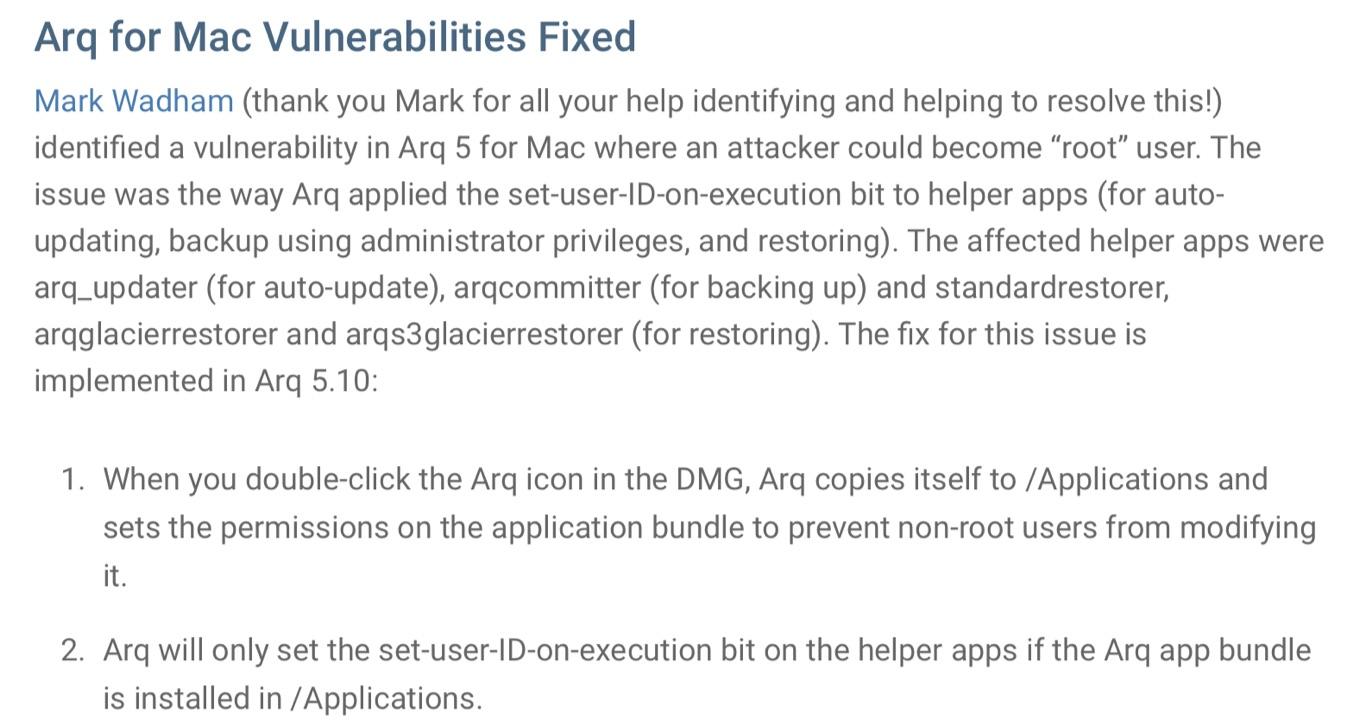 Arq Backup for Mac v5.11