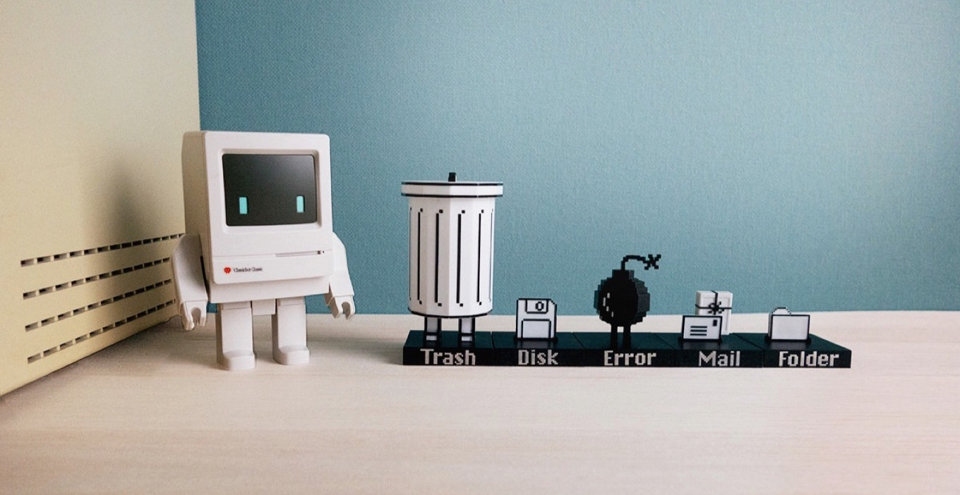 Macintosh OSフィギュア「Trashbot & Friends」