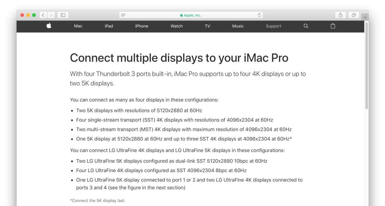 iMac Pro 2017でマルチディスプレイ環境を構築する。