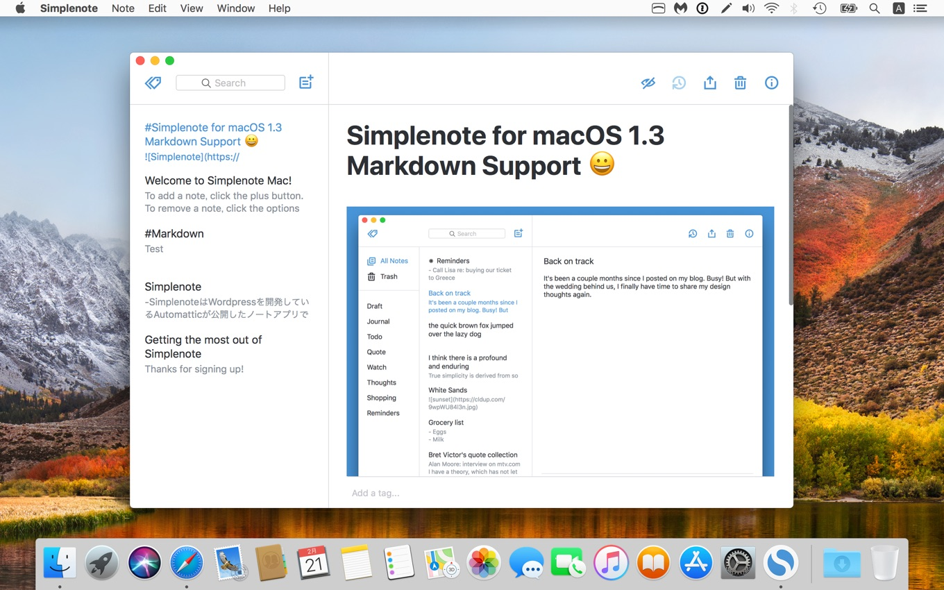 Markdown Support Added in Latest macOS App Update