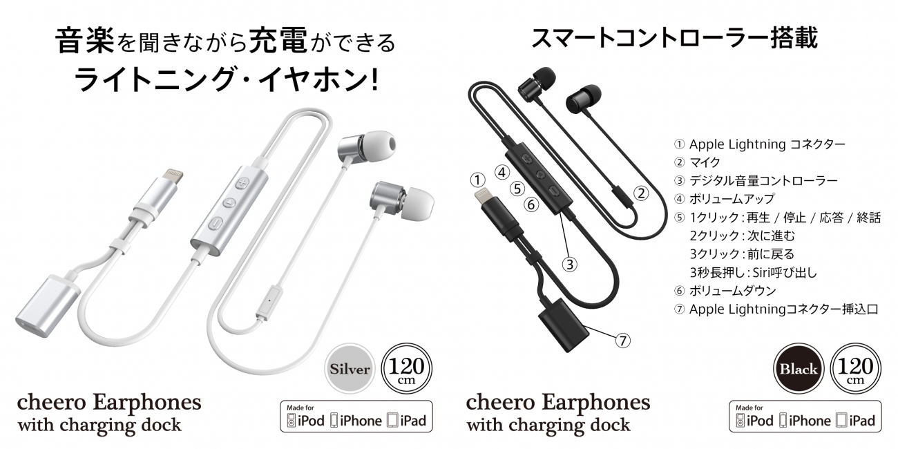 cheero Earphones with charging dockの操作方法