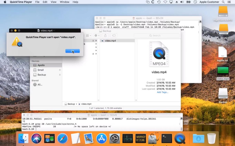 macOS 10.13 High SierraのAPFSフォーマットのディスクイメージのデータロス不具合