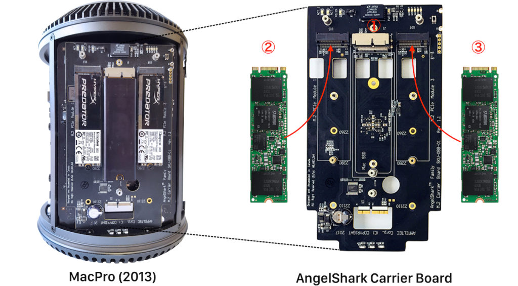 AngelShark Carrier Boardの構成