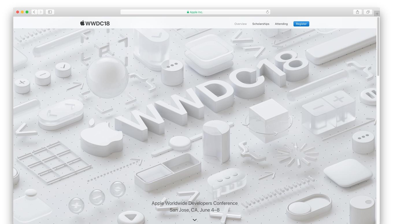 WWDC 2018サイト