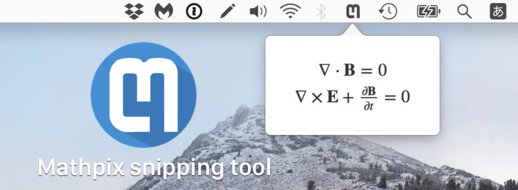 Mathpix snipping tool for Mac