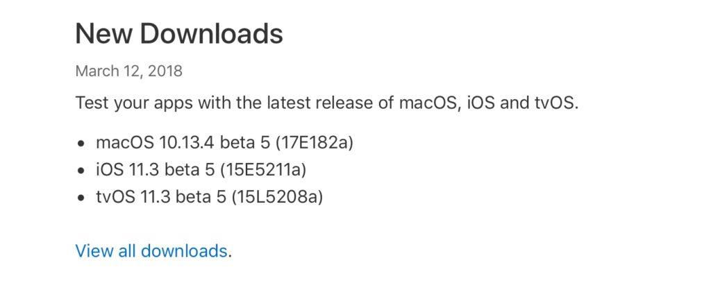 macOS 10.13.4 beta 5 (17E182a)