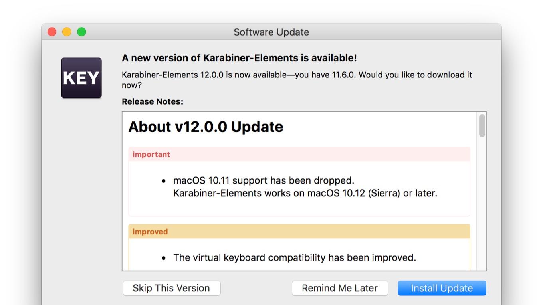Karabiner-Elements v12.0.0