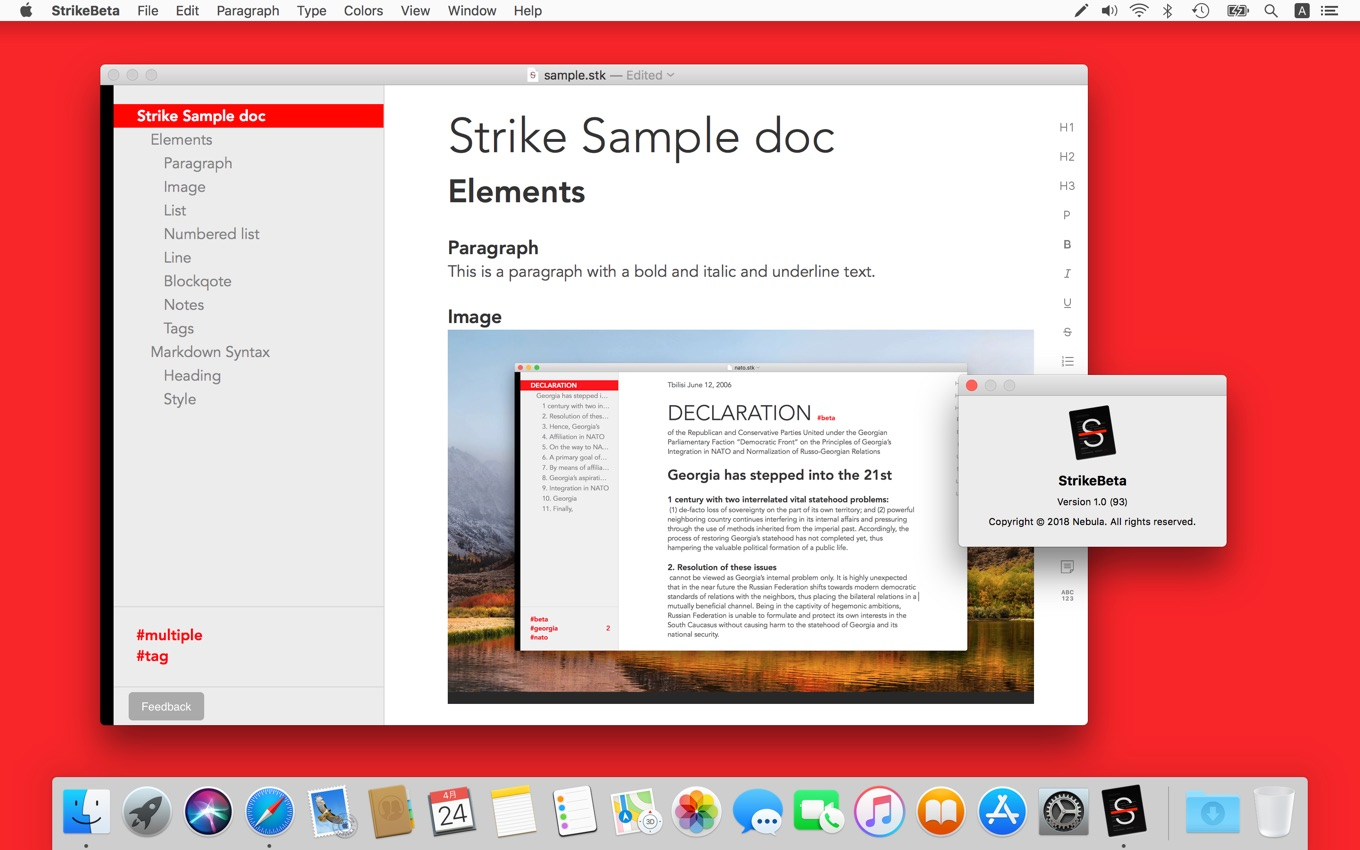 Shared Outline Documents for Mac