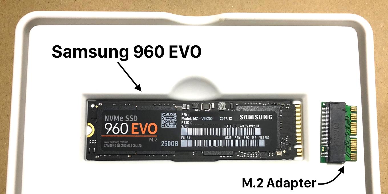 Samsung 960 EVO と M.2 アダプター
