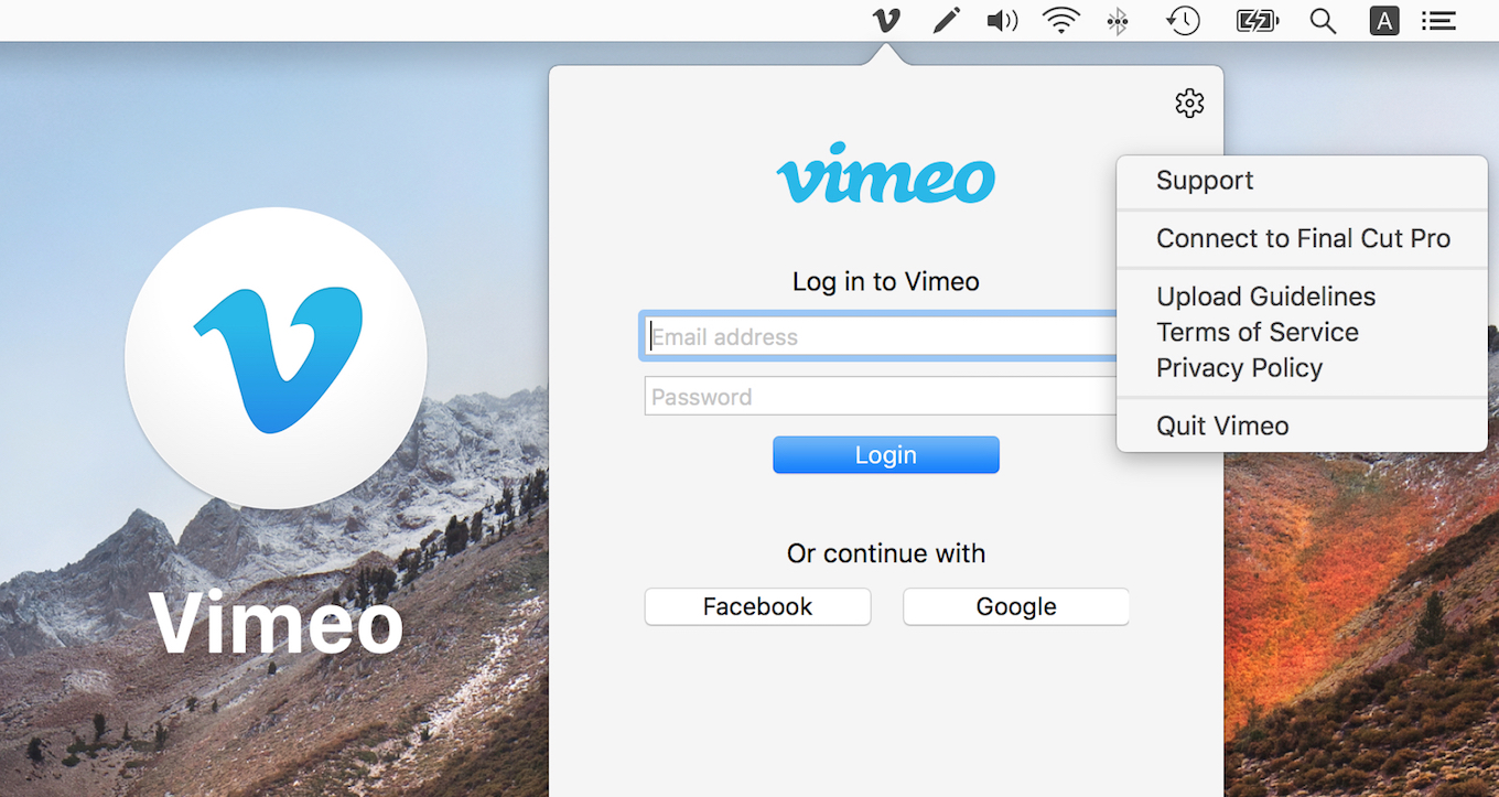 Vimeo for Mac