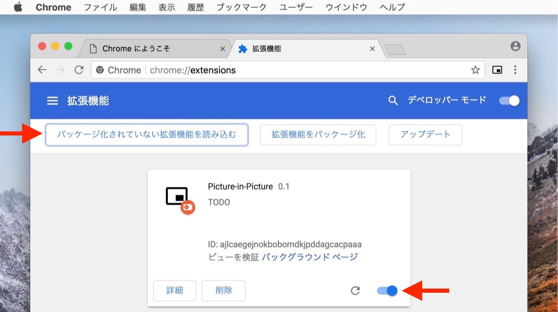 Google ChromeでPinP