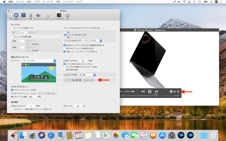 IINA v1.0 beta On Screen Controller