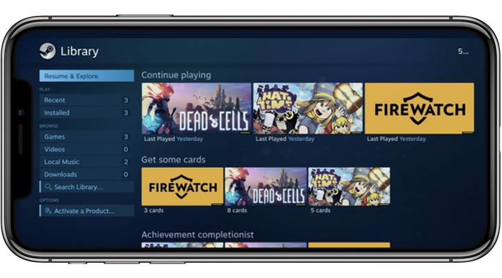 Steam Link on iPhone X