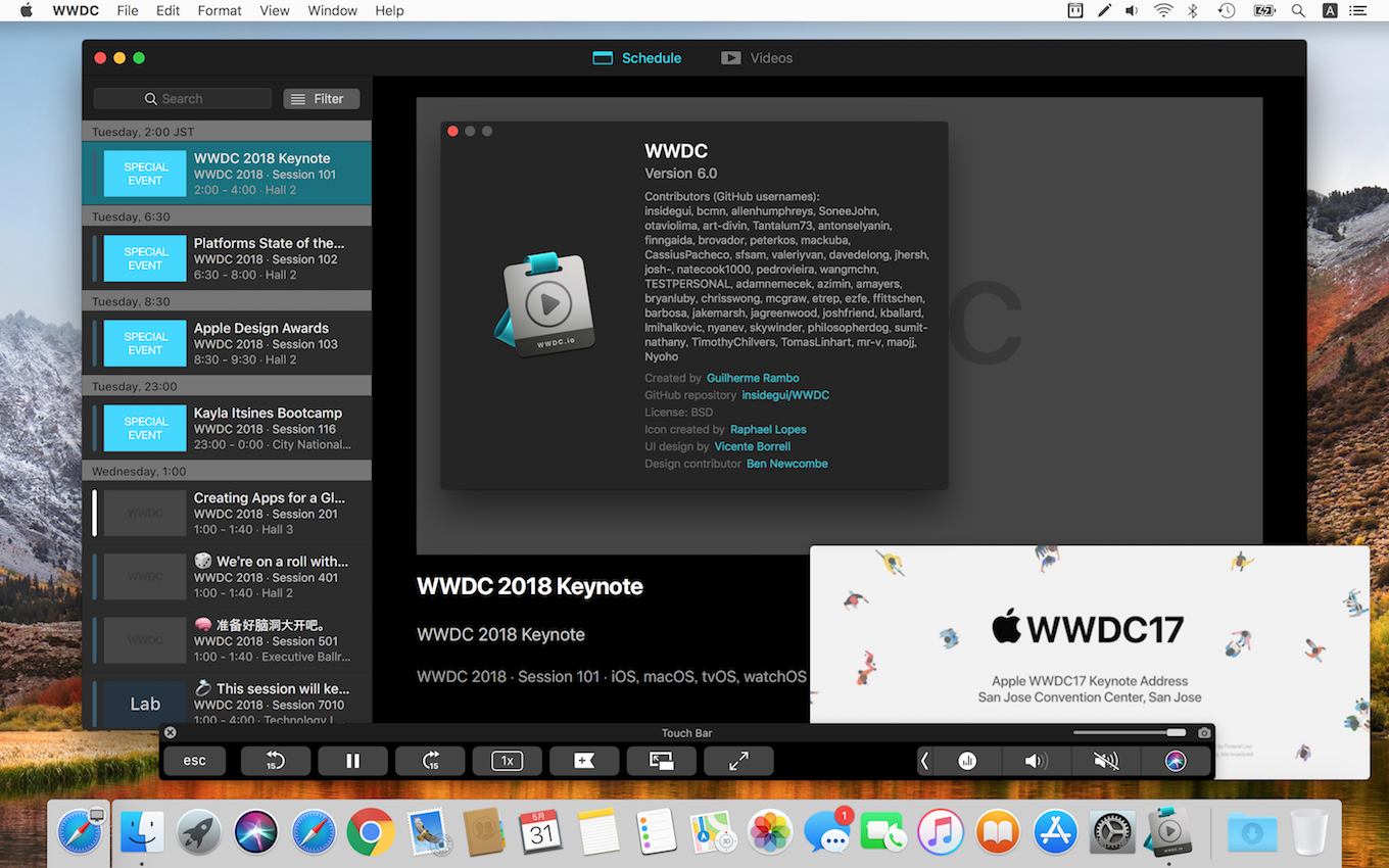 Apple非公式のWWDC for macOSアプリ