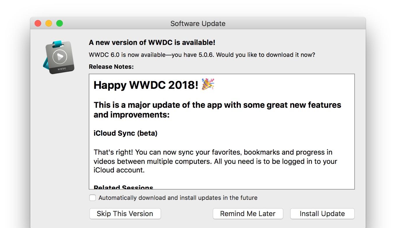 WWDC v6 for macOS 2018