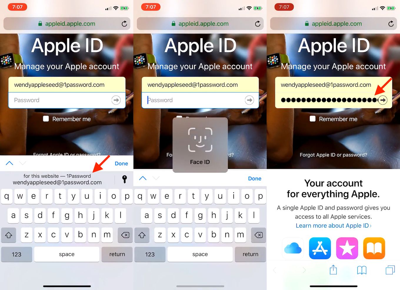 1Password support Password Manager API on iOS 12