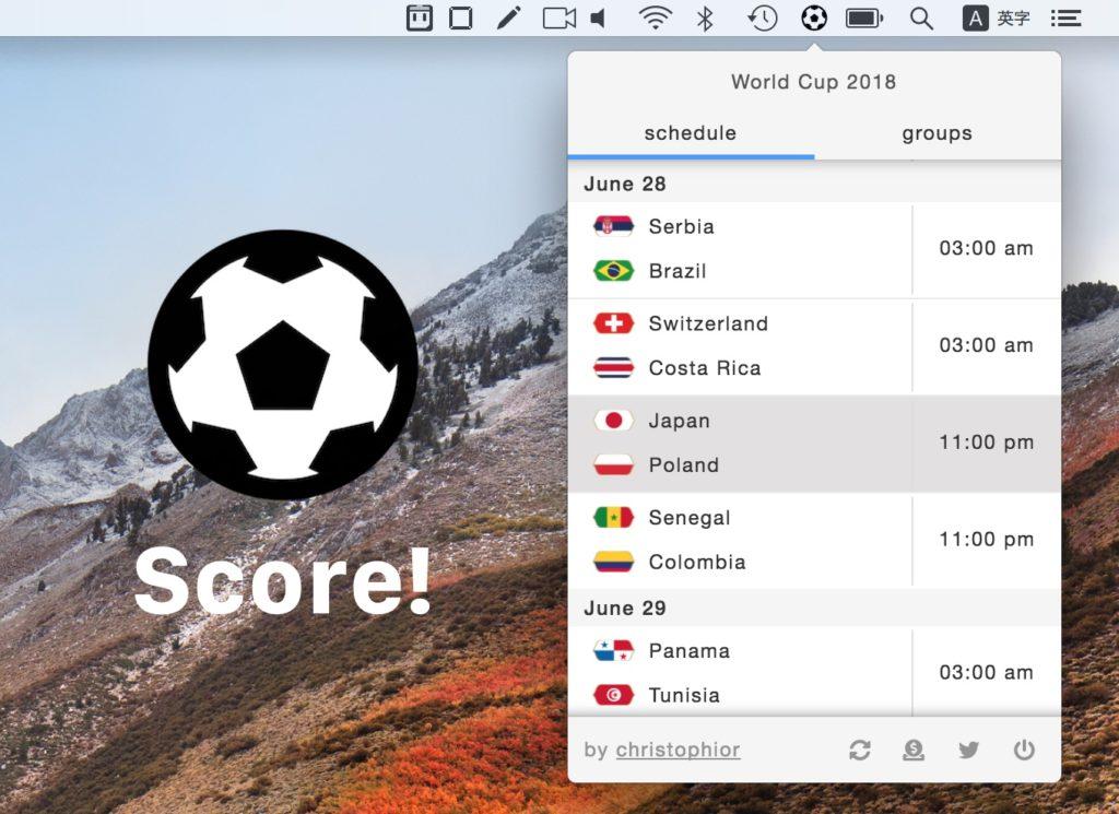 2018 FIFA ワールドカップ Score! for Mac