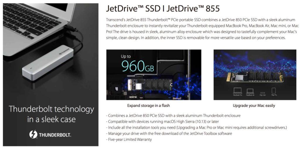 JetDrive 855 for Mac