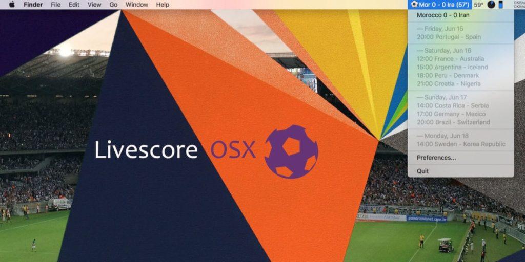 Livescore OSX
