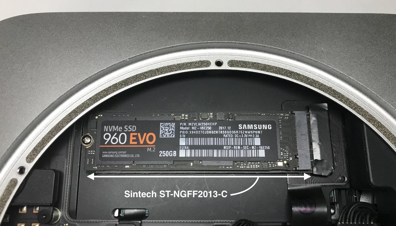 Samsung 960 EVOとSintech ST-NGFF2013-C