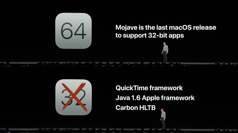 macOS 10.14 Mojaveは32-bitアプリをサポートする最後のmacOS