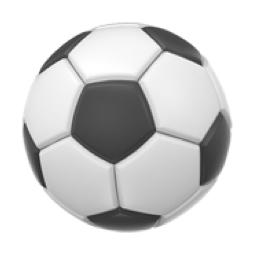 Appleのサッカーボール絵文字