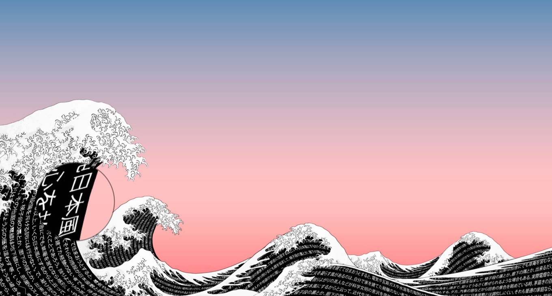 Ia Labs 葛飾北斎の富嶽三十六景 神奈川沖浪裏をモチーフにした4k