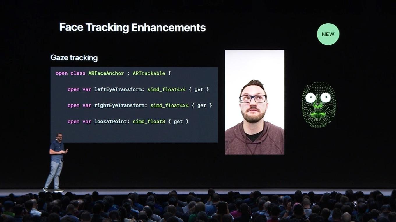 iOS 12で採用されるARKit 2の「Face Tracking」を利用し、視線でiPhone X