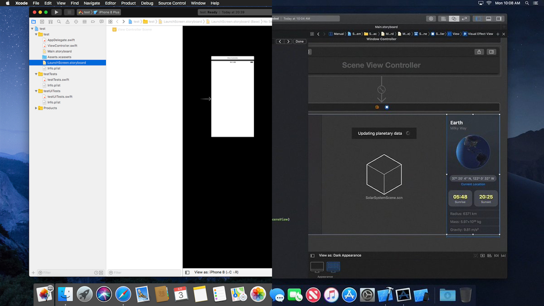 macOS 10.13でダークアピアランス