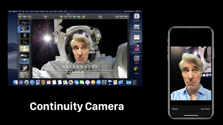 Continuity Cameraのデモ