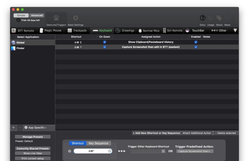 macOS 10.14 MojaveのDark ModeのBetterTouchTool